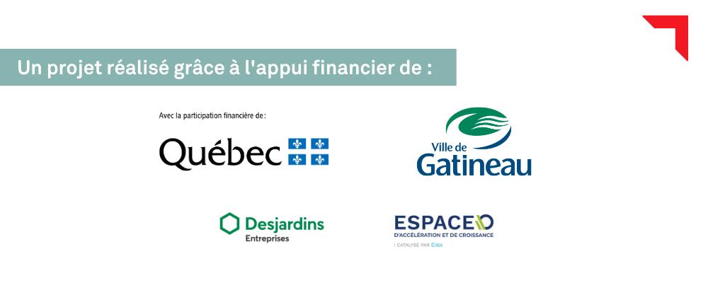 Partenaires parcours cybercommerce Outaouais Services Québec Ville de Gatineau Desjardins Entreprises Espace-O École des entrepreneurs Export Outaouais